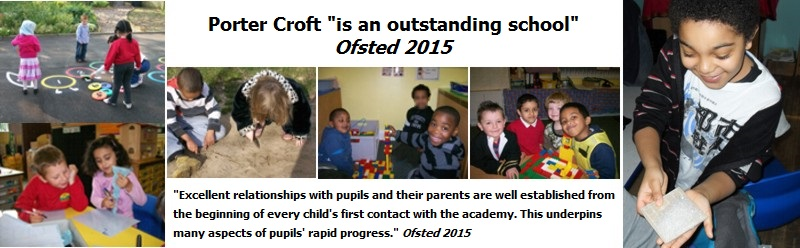 Image of children and quotes from our 'outstanding' Ofste